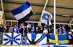 Uppsala 2015-10-23 Bandy Elitserien IK Sirius - Villa Lidk&ouml;ping BK :  <br /> Villa Lidk&ouml;pings supportrar med flaggor under matchen mellan IK Sirius och Villa Lidk&ouml;ping BK <br /> (Foto: Kenta J&ouml;nsson) Nyckelord:  Bandy Elitserien Uppsala Studenternas IP IK Sirius IKS Villa Lidk&ouml;ping supporter fans publik supporters