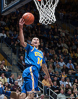 Zach LaVine of UCLA shoots the ball during the game against California at Haas Pavilion in Berkeley, California on February 19th, 2014.  UCLA defeated California, 86-66.
