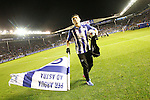 Deportivo Alaves' Daniel Torres celebrates the victory in the Spanish Kings Cup semifinal. February 08,2017. (ALTERPHOTOS/Acero)