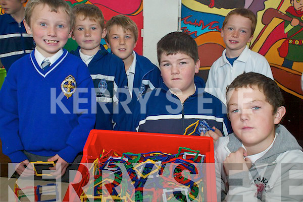 MATHS: Enjoying the CBS Primary Tralee 'Maths Day' on Thursday last were l-r: Sean Gannon, Damien Burke, Ben Falvey, Niall Burke, David Boyle, Anthony Quilligan.   Copyright Kerry's Eye 2008