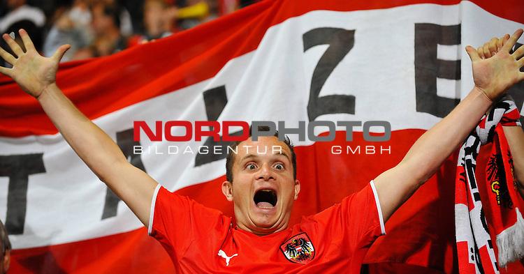 05.09.2009, UPC-Arena, Graz, AUT, WM Quali 2010, Österreich vs Färöer, im Bild österreichischer Fan, Foto_ nph ( nordphoto ) /  S. Zangrando