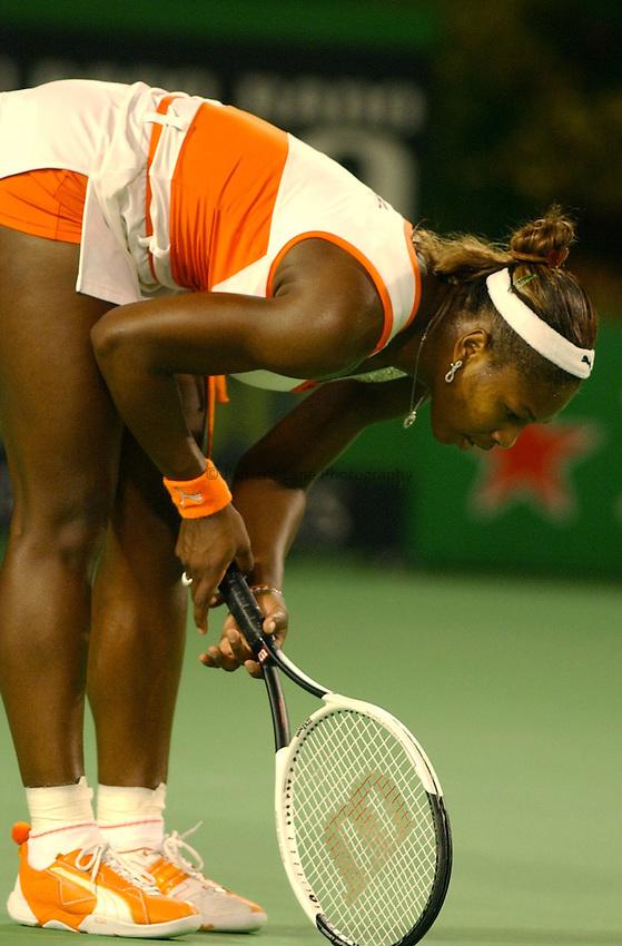 Australian Open Tennis 2003.25/01/2003.Serena Williams v Venus Williams  Final.Serena Williams