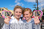 Emma Coffey and Aoife O'Leary Glenbeigh at the Glenbeigh car boot sale in Glenbeigh on Sunday.