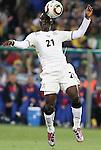 13 JUN 2010:  Kwadwo Asamoah (GHA)(21).  The Serbia National Team played the Ghana National Team at Loftus Versfeld Stadium in Tshwane/Pretoria, South Africa in a 2010 FIFA World Cup Group D match.