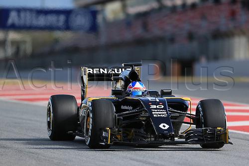 03.03.2016. Barcelona, Spain. Formula 1 Winter Testing at Circuit de Barcelona Catalunya Test 2 Day 3.  Renault Sport F1 Team RS16 – Jolyon Palmer