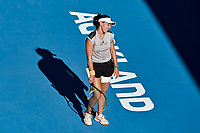 12th January 2020, Auckland, New Zealand;  Jessica Pegula (USA) shows her frustration during the Women's singles final against Serena Williams (USA) at the 2020 Women's ASB Classic at the ASB Tennis Centre, Auckland, New Zealand.