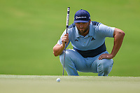 Jon Rahm (ESP) lines up his birdie putt on 8 during round 1 of the 2019 Tour Championship, East Lake Golf Course, Atlanta, Georgia, USA. 8/22/2019.<br /> Picture Ken Murray / Golffile.ie<br /> <br /> All photo usage must carry mandatory copyright credit (© Golffile | Ken Murray)