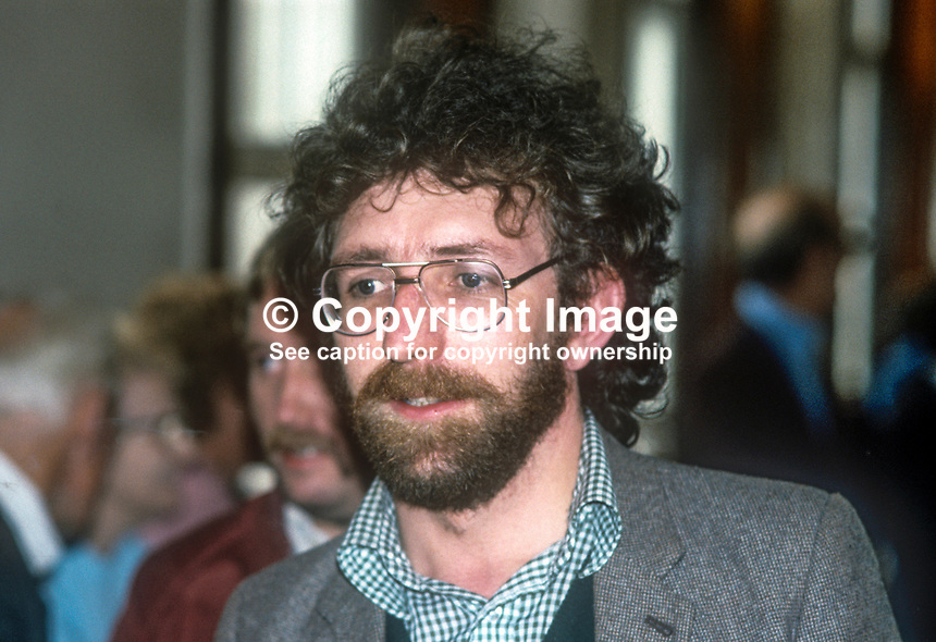 Fergus O&rsquo;Hare, IRSP, Irish Republican Socialist Party, city councillor, Belfast, N Ireland, UK, January, 1982, 1982155FOH1<br />