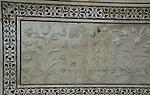 Detail on the Taj Mahal.