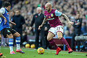 4th November 2017, Villa Park, Birmingham, England; EFL Championship football, Aston Villa versus Sheffield Wednesday; Alan Hutton of Aston Villa comes in off the wing
