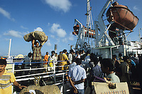 INDIA Little Andaman, MV Dering arrives at Hut bay after Tsunami / INDIEN Little Andaman, MS Dering kommt mit Rueckkehrern im Hafen von Hutbay nach dem Tsunami an