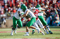 STANFORD, CA - SEPTEMBER 21: Casey Toohill #52 of the Stanford Cardinal attempts to sack Justin Herbert #10 of the Oregon Ducks during a game between University of Oregon and Stanford Football at Stanford Stadium on September 21, 2019 in Stanford, California.