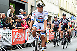 European Champion Alexander Kristoff (NOR) and UAE Team Emirates at the Team Presentations for the 105th Tour de France 2018 held on Napoleon Square in La Roche-sur-Yon, France. 5th July 2018. <br /> Picture: ASO/Alex Broadway | Cyclefile<br /> All photos usage must carry mandatory copyright credit (&copy; Cyclefile | ASO/Alex Broadway)