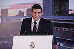 Real Madrid's new soccer player Mateo Kovacic during his official presentation at the Santiago Bernabeu stadium in Madrid, Spain. August 19, 2015. (ALTERPHOTOS/Victor Blanco)