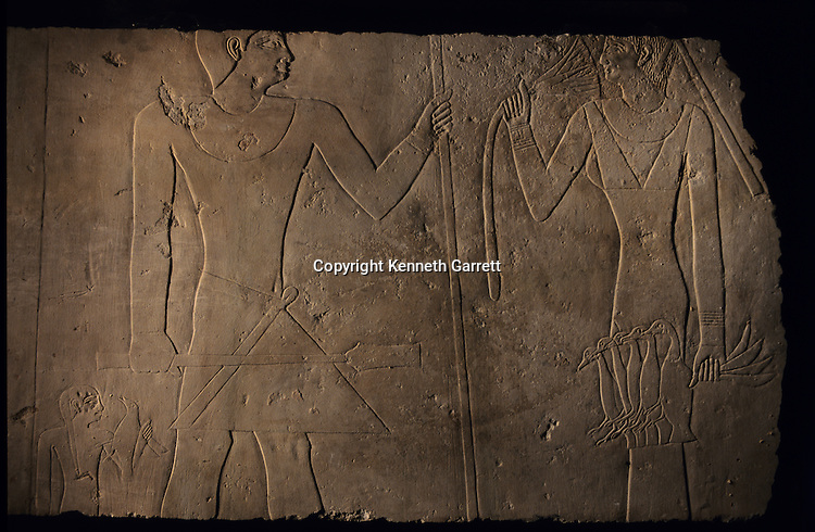 A limestone stela that is a masterpiece of Old Kingdom art, birds, lotus,Art had been robbed then returned