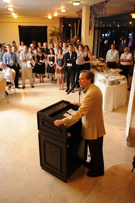 Latin American Reunion 2008, Fr. Jenkins gives opening remarks...Photo by Matt Cashore/University of Notre Dame