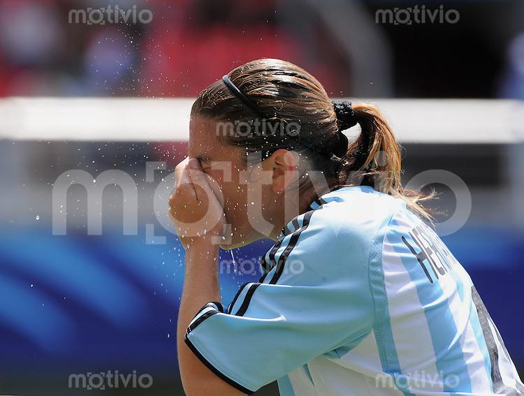 Fussball Frauen FIFA U 20  Weltmeisterschaft 2008     22.11.2008 USA - Argentinien Entaeuschung ARG, Yanina Hernandez