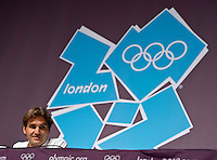 26.07.2012. London, Egland. Roger Federer SUI official Press conference 2012 London Olympics