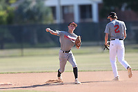 Gunner Dameron (39) of Madisonville North Hopkins High School in Madisonville, Kentucky during the Under Armour Baseball Factory National Showcase, Florida, presented by Baseball Factory on June 13, 2018 the Joe DiMaggio Sports Complex in Clearwater, Florida.  (Nathan Ray/Four Seam Images)