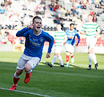 30.04.18 Glasgow Cup Final Rangers v Celtic : Ciaran Dickson scores from the spot to put Rangers ahead