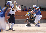 Western Nevada's Kacie Freudenberger hits against College of Southern Nevada at Edmonds Sports Complex Carson City, Nev., on Saturday, May 2, 2015.<br /> Photo by Cathleen Allison/Nevada Photo Source