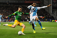 Preston North End's Sean Maguire under pressure from Blackburn Rovers' Tosin Adarabioyo<br /> <br /> Photographer Kevin Barnes/CameraSport<br /> <br /> The EFL Sky Bet Championship - Blackburn Rovers v Preston North End - Saturday 11th January 2020 - Ewood Park - Blackburn<br /> <br /> World Copyright © 2020 CameraSport. All rights reserved. 43 Linden Ave. Countesthorpe. Leicester. England. LE8 5PG - Tel: +44 (0) 116 277 4147 - admin@camerasport.com - www.camerasport.com