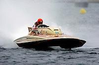 """Bill Fisk drives his Lauterbach 7 litre/Grand Prix hydro """"Irishman""""."""