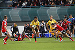 NELSON, NEW ZEALAND - MAY 29:   Julian Savea of the Hurricanes on the burst during the Round 16 Super Rugby match between the Crusaders and the Hurricanes at Trafalgar Park on May 29, 2015 in Nelson, New Zealand. (Photo by Marc Palmano/Shuttersport Limited)