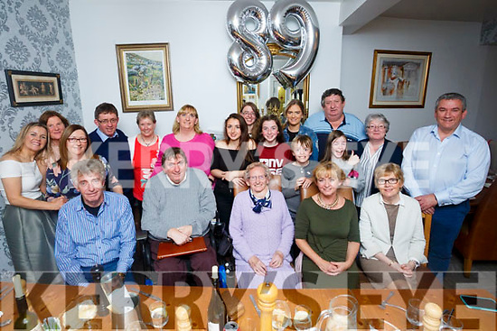 Mary O'Brien, Tralee celebrates her 89th Birthday with family at Bella Bia's on Friday