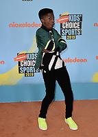 SANTA MONICA, CA - JULY 11:  Lex Lumpkin at Nickelodeon's Kids' Choice Sport 2019 at the Barker Hangar on July 11, 2019 in Santa Monica, California. (Photo by Scott KirklandPictureGroup)