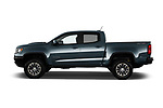 Car driver side profile view of a 2017 Chevrolet Colorado ZR2 Crew 4 Door Pick Up