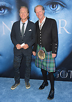 Jerome Flynn &amp; Iain Glen at the season seven premiere for &quot;Game of Thrones&quot; at the Walt Disney Concert Hall, Los Angeles, USA 12 July  2017<br /> Picture: Paul Smith/Featureflash/SilverHub 0208 004 5359 sales@silverhubmedia.com