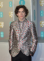 LONDON, UK - FEBRUARY 10: Timothée Chalamet at the 72nd British Academy Film Awards held at Albert Hall on February 10, 2019 in London, United Kingdom. <br /> CAP/MPIIS<br /> ©MPIIS/Capital Pictures