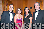 Socialising.L-R Enda Murphy, Sarah O'Neill with Angela & Donal O'Connell enjoying the Tralee Rotary Club Gala Christmas ball in the Carlton Hotel,Tralee last friday night.