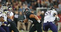 STANFORD,CA-- October 5, 2013: Ben Gardner during the Stanford vs Washington game Saturday night at Stanford Stadium.<br /> <br /> Stanford won 31-28.