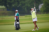 Jessica Korda (USA) hits her second shot on 3 during round 4 of the KPMG Women's PGA Championship, Hazeltine National, Chaska, Minnesota, USA. 6/23/2019.<br /> Picture: Golffile | Ken Murray<br /> <br /> <br /> All photo usage must carry mandatory copyright credit (© Golffile | Ken Murray)