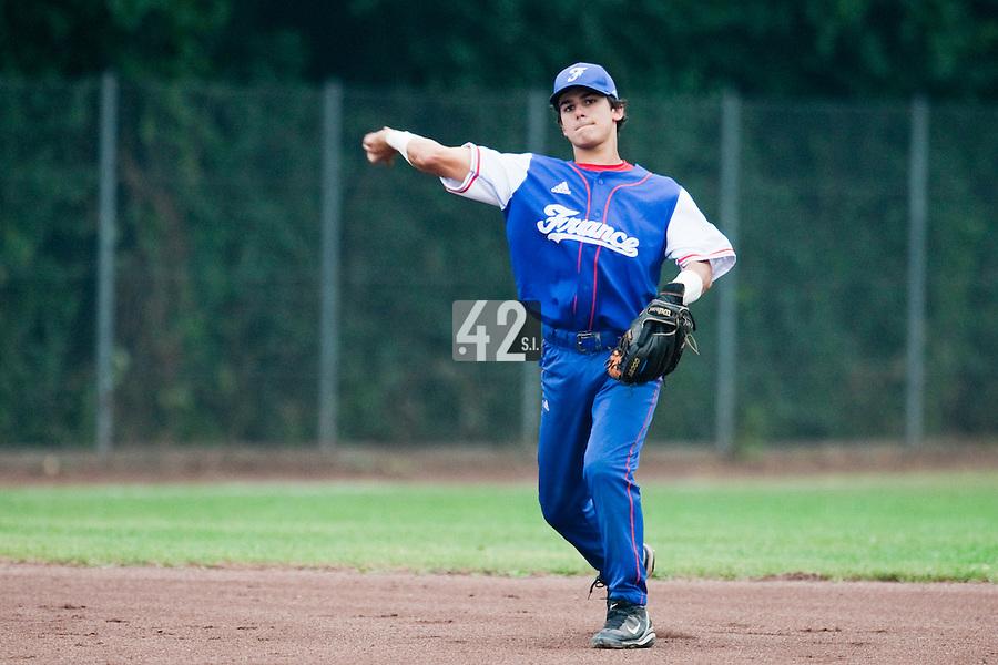 Baseball - 2009 European Championship Juniors (under 18 years old) - Bonn (Germany) - 08/08/2009 - Day 6 - Maxime Lefevre (France)