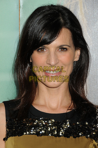 "Perrey Reeves.HBO's ""Enlightened"" Los Angeles Premiere held at Paramount Studios, Los Angeles, California, USA. .October 6th, 2011.headshot portrait black gold green.CAP/ADM/BP.©Byron Purvis/AdMedia/Capital Pictures."