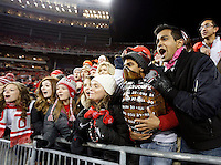 Ohio State students display the Illibuck trophy prior to the NCAA football game at Ohio Stadium on Saturday, November 1, 2014. (Columbus Dispatch photo by Jonathan Quilter)