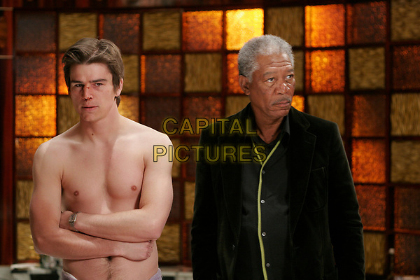 Lucky Number Slevin (2006) <br /> Josh Hartnett &amp; Morgan Freeman<br /> *Filmstill - Editorial Use Only*<br /> CAP/KFS<br /> Image supplied by Capital Pictures