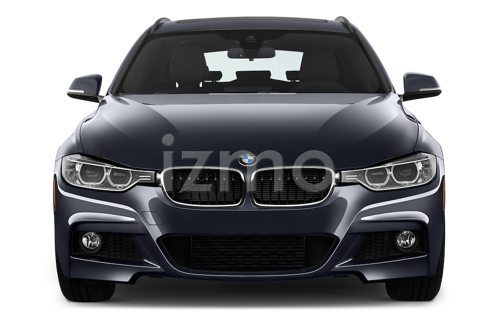 Car photography straight front view of a 2017 BMW 3-Series 328d-Sports-Wagon 5 Door Wagon Front View