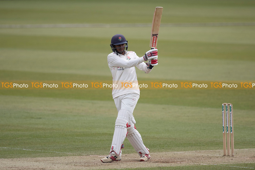 Haseeb Hameed of Lancashire CCC pulls a short ball from Murtagh square for four during Middlesex CCC vs Lancashire CCC, Specsavers County Championship Division 2 Cricket at Lord's Cricket Ground on 12th April 2019