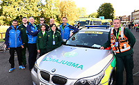 Picture by Simon Wilkinson/SWpix.com - 09/09/2017 - Cycling - OVO Energy Tour of Britain - Stage 7 Hemel Hempstead to Cheltenham - Medical team Ambulance , doctor