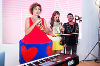 Spanish designer Agatha Ruiz de la Prada present a new hit of violinist Elena Mikhailova and Dj Madison at MBFWM16 in Madrid. September 16, Spain. 2016. (ALTERPHOTOS/BorjaB.Hojas) /NORTEPHOTO