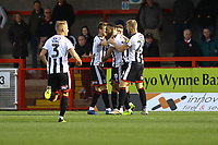 Wes Thomas (C) of Grimsby Town scores the first goal for his team and celebrates with team mates  during Crawley Town vs Grimsby Town, Sky Bet EFL League 2 Football at Broadfield Stadium on 9th March 2019