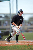 Plymouth State Panthers Mike Bailey (10) at bat during the second game of a doubleheader against the Edgewood Eagles on March 17, 2016 at Lee County Player Development Complex in Fort Myers, Florida.  Plymouth State defeated Edgewood 16-3.  (Mike Janes/Four Seam Images)