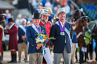 GOLD MEDAL: AUS-Boyd Exell. SILVER MEDAL: USA-Chester Weber. The FEI World Individual Driving Championship - Medal Ceremony. 2018 FEI World Equestrian Games Tryon. Sunday 23 September. Copyright Photo: Libby Law Photography