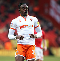 Blackpool's Joe Dodoo in action<br /> <br /> Photographer David Shipman/CameraSport<br /> <br /> The EFL Sky Bet League One - Charlton Athletic v Blackpool - Saturday 16th February 2019 - The Valley - London<br /> <br /> World Copyright © 2019 CameraSport. All rights reserved. 43 Linden Ave. Countesthorpe. Leicester. England. LE8 5PG - Tel: +44 (0) 116 277 4147 - admin@camerasport.com - www.camerasport.com