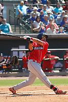 Lakewood BlueClaws infielder Darick Hall (46) at bat during a game against the Charleston RiverDogs on May 3, 2017 at Joseph P. Riley Ballpark in Charleston, South Carolina. Lakewood defeated Charleston 10-6. (Robert Gurganus/Four Seam Images)