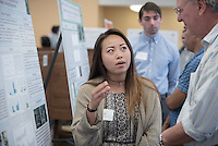 "Tiffany Kho '17 presents ""Acidity and Aquaporin Expression in Leaves of Tank Bromeliads""<br /> Occidental College's Undergraduate Research Center hosts their annual Summer Research Conference on Aug. 4, 2016. Student researchers presented their work as either oral or poster presentations at the final conference. The program lasts 10 weeks and involves independent research in all departments.<br /> (Photo by Marc Campos, Occidental College Photographer)"